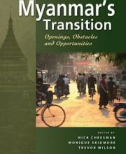 Myanmar's Transition: Openings, Obstacles and Opportunities book cover